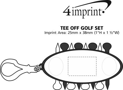 Imprint Area of Tee Off Golf Set
