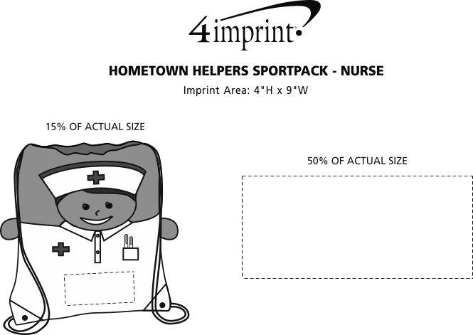Imprint Area of Hometown Helpers Sportpack - Nurse
