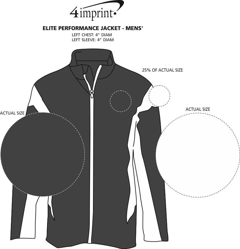 Imprint Area of Elite Performance Jacket - Men's