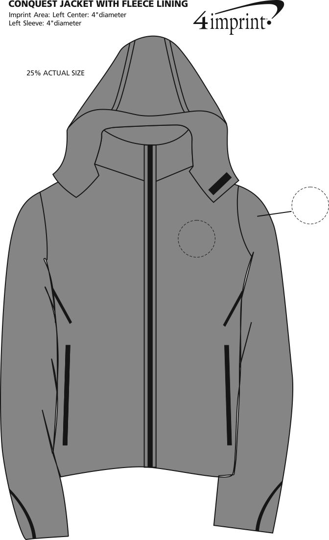 Imprint Area of Conquest Jacket with Fleece Lining
