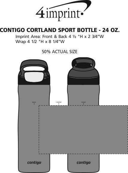 Imprint Area of Contigo Cortland Sport Bottle - 24 oz.