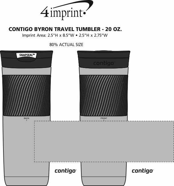 Imprint Area of Contigo Byron Travel Tumbler - 20 oz.