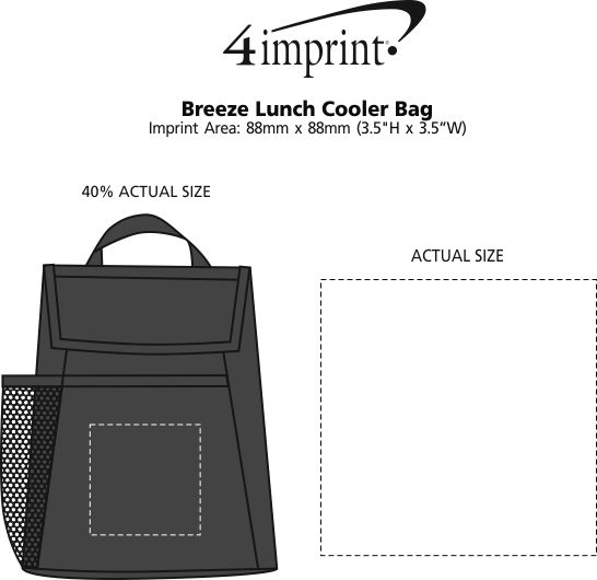 Imprint Area of Breeze Lunch Cooler Bag