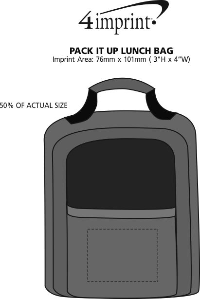 Imprint Area of Pack It Up Lunch Bag