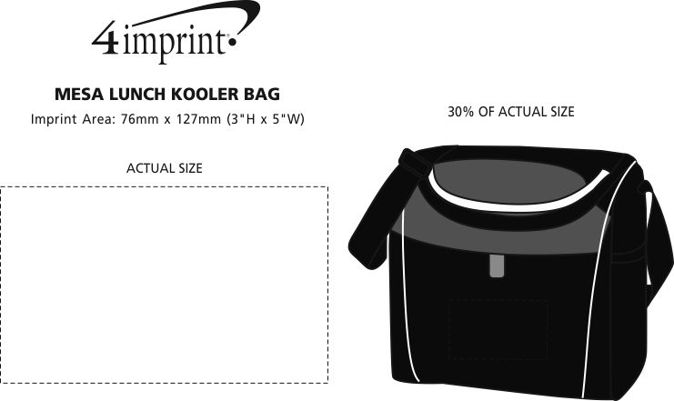 Imprint Area of Mesa Lunch Kooler Bag