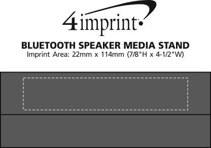 Imprint Area of Bluetooth Speaker Media Stand