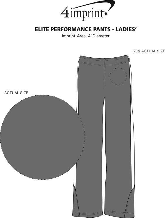Imprint Area of Elite Performance Pants - Ladies'
