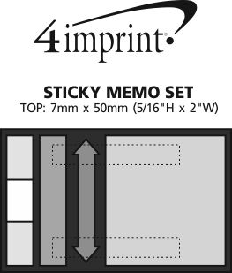 Imprint Area of Sticky Memo Set