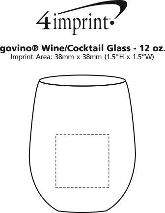 Imprint Area of govino® Wine/Cocktail Glass - 12 oz.