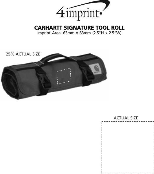 Imprint Area of Carhartt Signature Tool Roll
