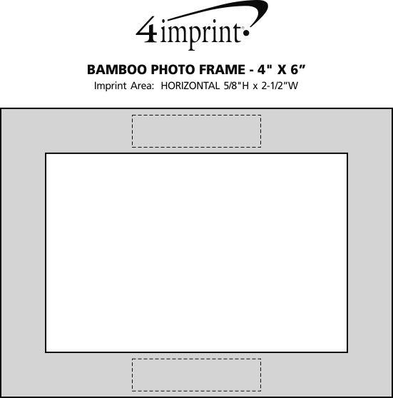 "Imprint Area of Bamboo Photo Frame - 4"" x 6"""
