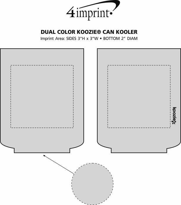 Imprint Area of Dual Colour Koozie® Can Kooler
