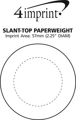 Imprint Area of Slant-Top Paperweight