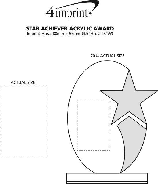Imprint Area of Star Achiever Acrylic Award