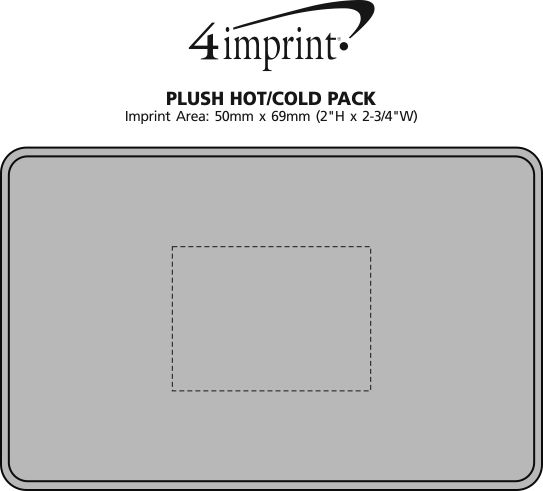 Imprint Area of Plush Hot/Cold Pack