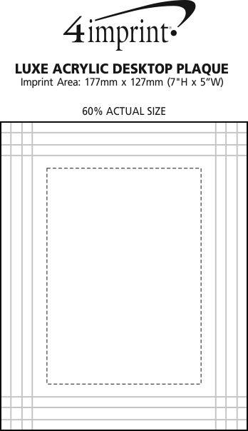 Imprint Area of Luxe Acrylic Desktop Plaque