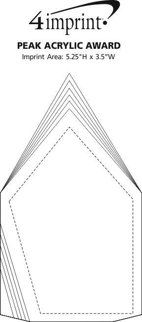 Imprint Area of Peak Acrylic Award