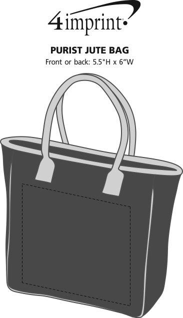 Imprint Area of Purist Jute Bag