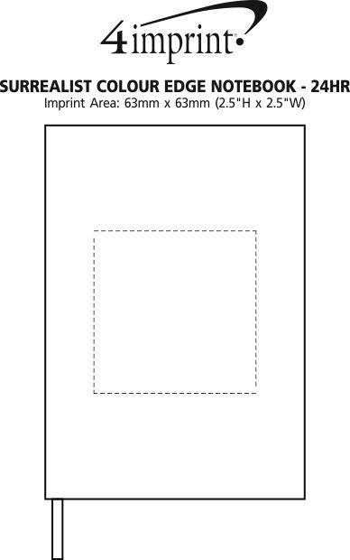 Imprint Area of Surrealist Colour Edge Notebook - 24 hr