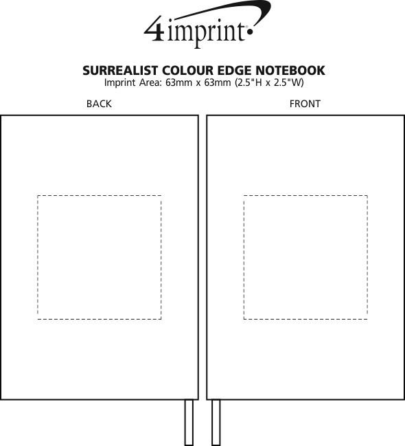 Imprint Area of Surrealist Colour Edge Notebook