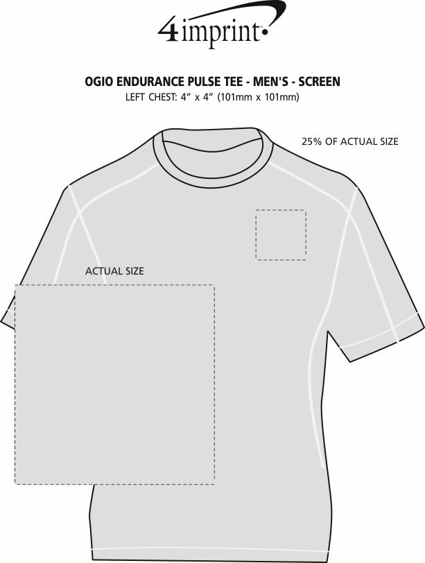 Imprint Area of OGIO Endurance Pulse Tee - Men's - Screen