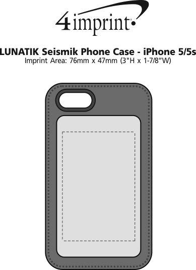 Imprint Area of LUNATIK Seismik Phone Case - iPhone 5-5s