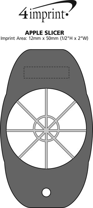 Imprint Area of Apple Slicer