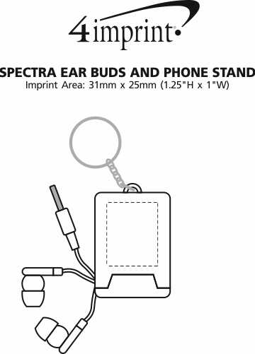 Imprint Area of Spectra Ear Buds and Phone Stand