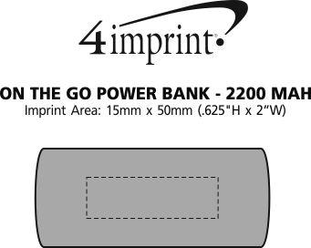Imprint Area of On the Go Flashlight Power Bank