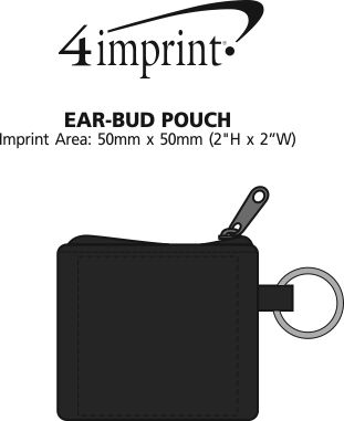 Imprint Area of Ear Buds with Pouch