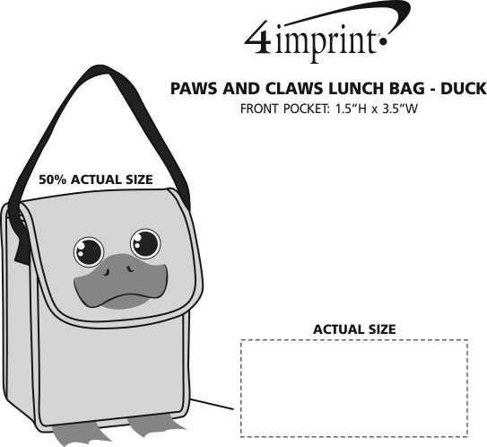 Imprint Area of Paws and Claws Lunch Bag - Duck