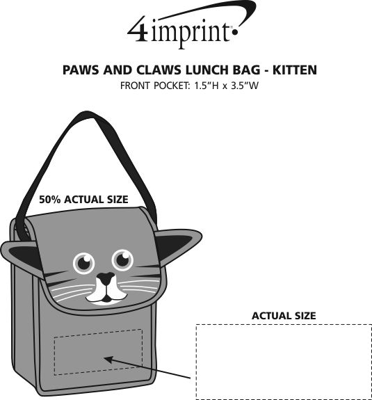 Imprint Area of Paws and Claws Lunch Bag - Kitten