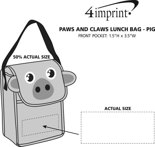 Imprint Area of Paws and Claws Lunch Bag - Pig