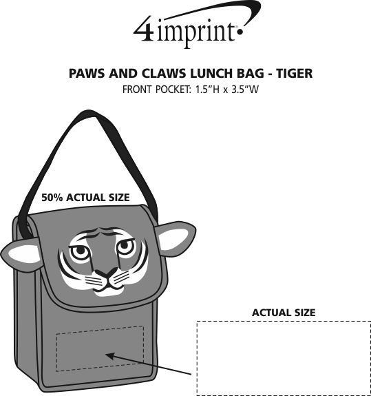 Imprint Area of Paws and Claws Lunch Bag - Tiger