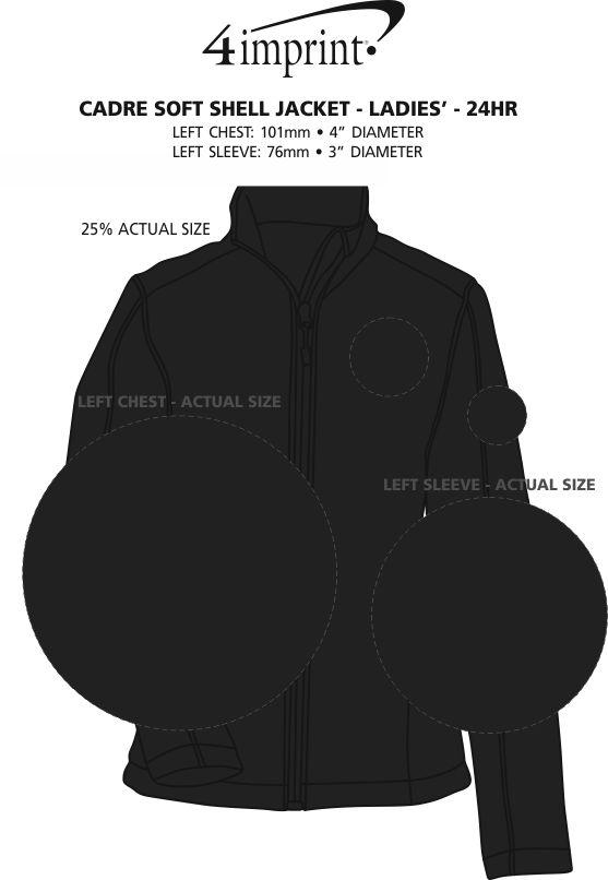 Imprint Area of Crossland Soft Shell Jacket - Ladies' - 24 hr