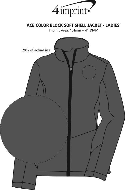 Imprint Area of Crossland Colourblock Soft Shell Jacket - Ladies'