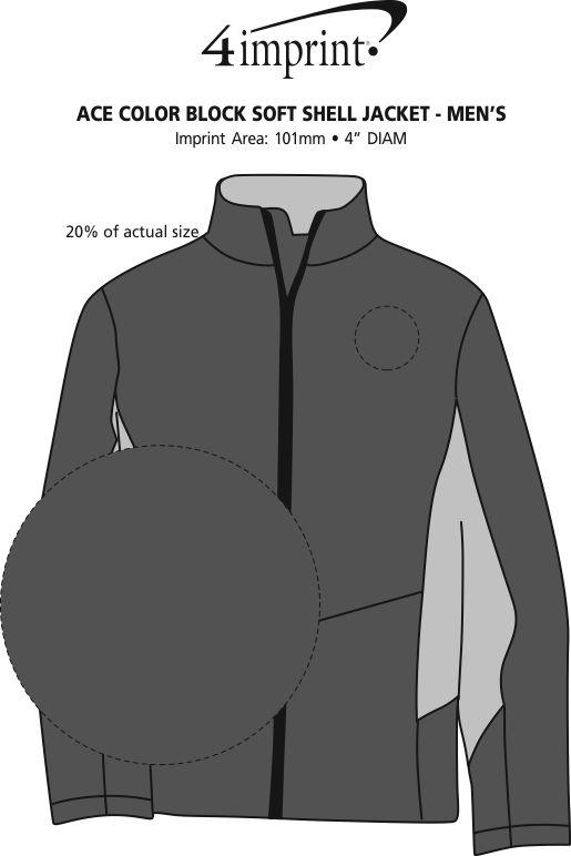 Imprint Area of Crossland Colourblock Soft Shell Jacket - Men's