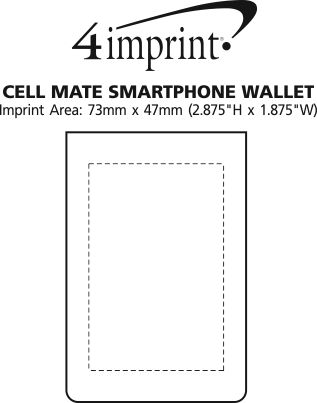 Imprint Area of Cell Mate Smartphone Wallet