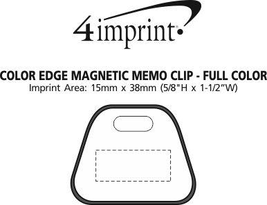 Imprint Area of Colour Edge Magnetic Memo Clip - Full Colour