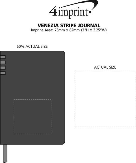 Imprint Area of Venezia Stripe Journal