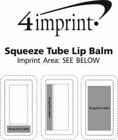 Imprint Area of Squeeze Tube Lip Balm