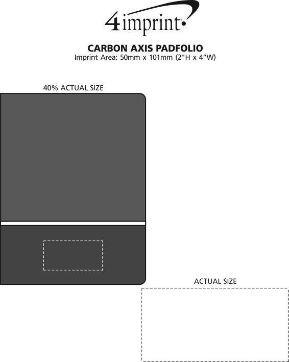 Imprint Area of Carbon Axis Padfolio