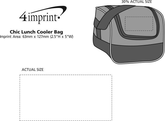 Imprint Area of Chic Cooler Bag