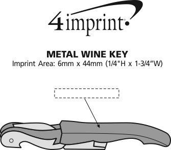 Imprint Area of Metal Wine Key