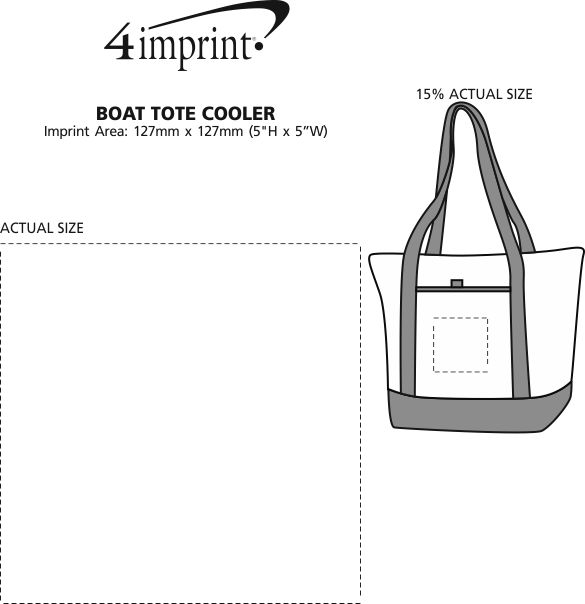 Imprint Area of Boat Tote Cooler
