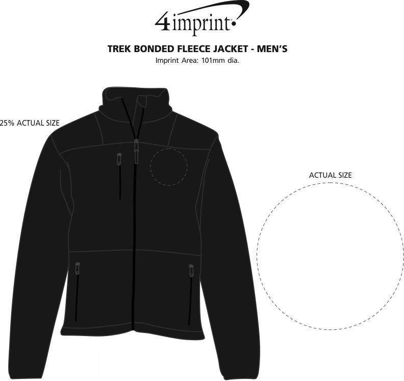 Imprint Area of Trek Bonded Fleece Jacket - Men's