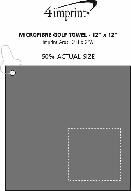 """Imprint Area of Microfibre Golf Towel - 12"""" x 12"""""""