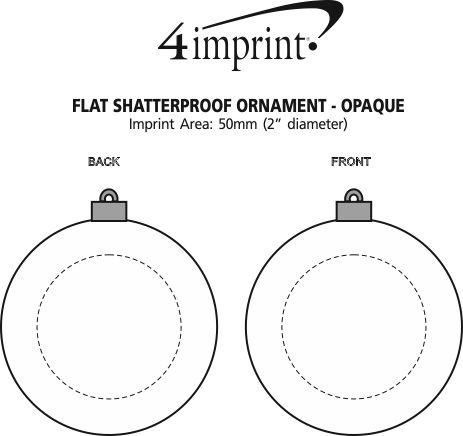 Imprint Area of Flat Shatterproof Ornament - Opaque