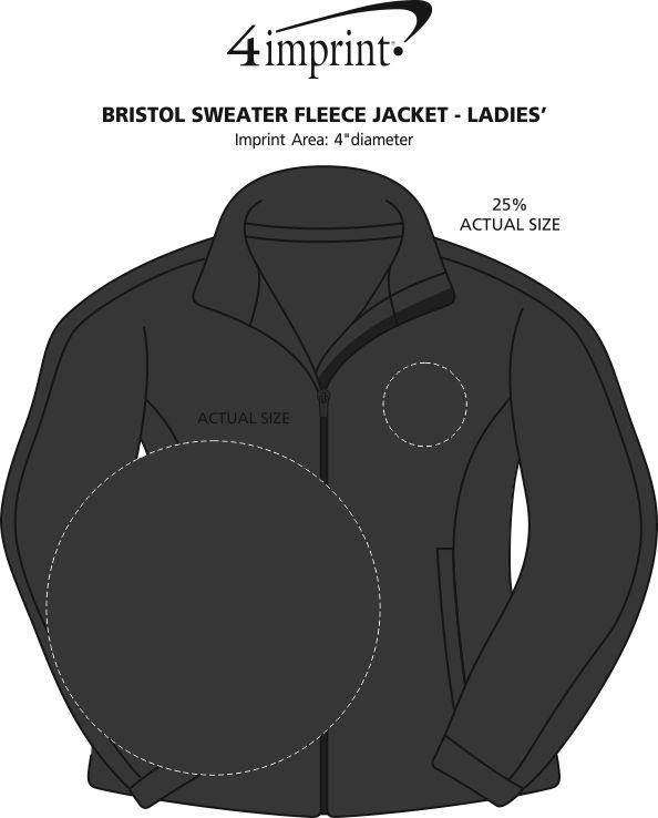 Imprint Area of Bristol Sweater Fleece Jacket - Ladies'