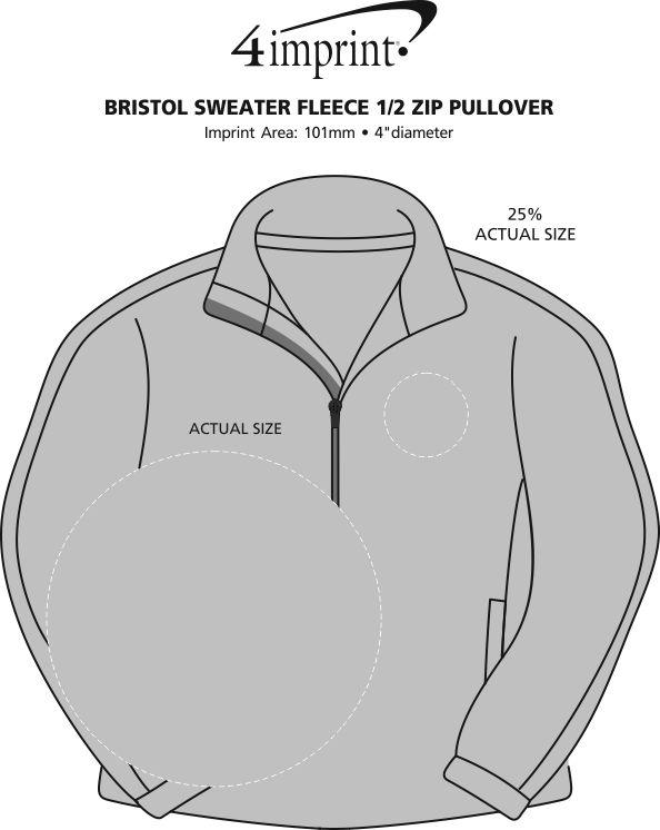 Imprint Area of Bristol Sweater Fleece 1/2-Zip Pullover